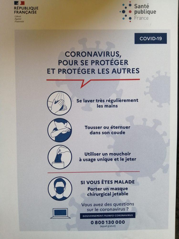 CORONAVIRUS : notre message